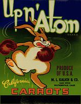 #ZLC109 - Up N' Atom California Carrot Crate Label