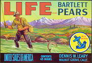 #ZLC120 - Life Bartlett Pears Crate Label