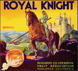 #ZLC122 - Royal Knight Sunkist Orange Crate Label
