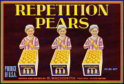 #ZLC128 - Repetition Pears Crate Label