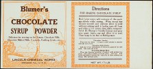 #LCA038 - Blumer's Chocolate Syrup Powder Can Label