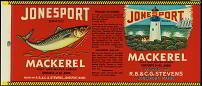 #ZLCA051 - Jonesport Mackerel Can Label
