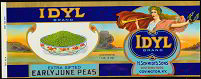 #ZLCA052 - Idyl Early June Peas Can Label