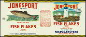 #ZLCA055 - Jonesport Fish Flakes Can Label