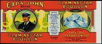 #ZLCA057 - Cap'n John Clam Nectar  Bouillon Can Label