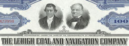 #ZZCE031 - Stock Certificate from the Lehigh Coal and Navigation Company