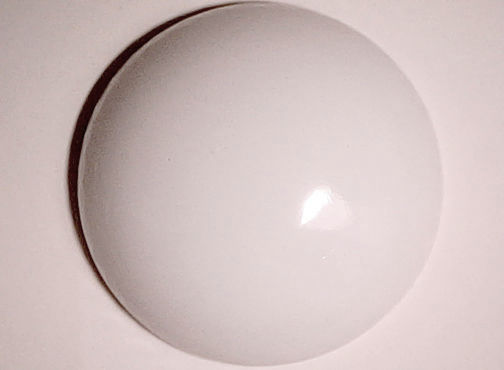 #BEADS501 - Huge 27mm Pure White Glass Cabochon - As low as 35¢ each