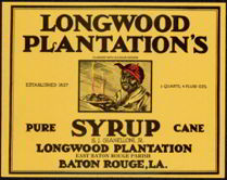 #ZLCA900 - Scarce Large Size Longwood Plantation Syrup Label