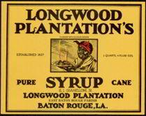 #ZLCA900 - Scarce Large Size Longwood Plantation Syrup Label