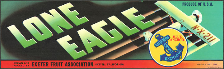 ZLSH301 - Group of 12 Lone Eagle Grape Crate Label