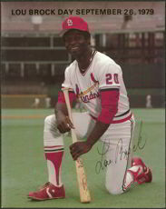 #BA026 - September 26, 1979 Lou Brock Game Day Program Insert