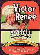 #ZLCA059 - Victor Renee Sardines Label