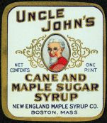 #ZBOT022 - Early Uncle John's Cane and Maple Sugar Syrup Label