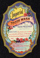 #ZBOT045 - Early J. B.Lynas Imperial Tooth Wash Label