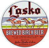 #ZLS072 - Large Lasko Brewed Birch Beer Label