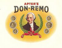 #ZLSC009 - Apter's Don-Remo Cigar Box Label