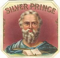 #ZLSC018 - Silver Prince Moses Cigar Label
