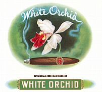 #ZLSC019 - White Orchid Cigar Box Label