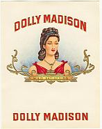#ZLSC028 - Dolly Madison Inner Cigar Box Label