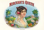 #ZLSC037 - Merchants Queen Inner Cigar Label