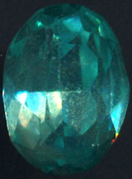 #BEADS0822 - 18mm Czech Aquamarine Colored Glass Rhinestone