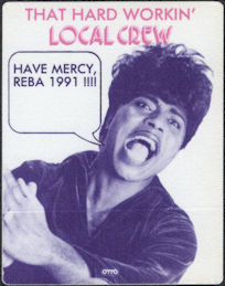 ##MUSICBP0793 - Super Rare Little Richard OTTO Cloth Backstage Local Crew Pass from 1991