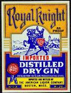 #ZLW037 - Royal Knight Distilled Gin Label