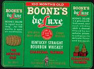#ZLW030 - Boone's Deluxe Whiskey Label Picturing Daniel Boone
