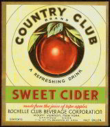 #ZBOT196.1 - Country Club Sweet Cider Label