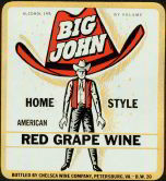 #ZLW051 - Big John Red Grape Wine Label