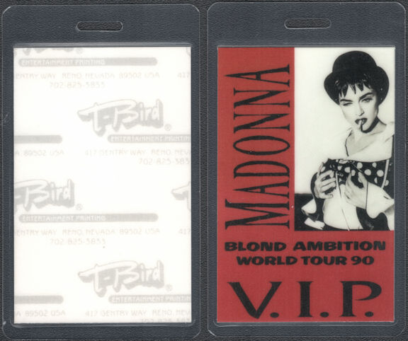 ##MUSICBP0750 - Madonna VIP Laminated T-Bird Backstage Pass from the Blonde Ambition Tour