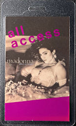 ##MUSICBP0628  - 1985 Madonna Laminated OTTO Backstage All Access Pass from the Like a Virgin Tour