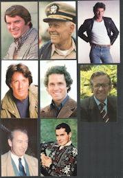 #CH477 - Group of 8 Different Male Movie Star Postcards