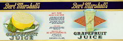 #ZLCA066 - Bert Marshall's Grapefruit Juice Can Label