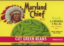 #ZLCA108 - Maryland Chief Cut Green Bean Can Label