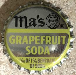#BC212 - Rare Ma's Grapefruit Soda Bottle Cap - Pictures Ma