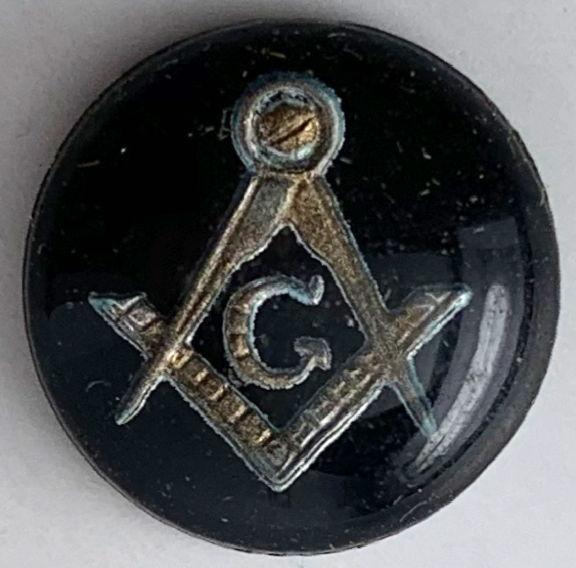 #BEADS0872 - 13mm Glass Masonic Intaglio