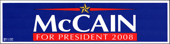 #PL150 - Group of 12 John McCain Bumper Stickers from the 2008 election