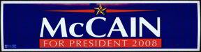 #PL150 - McCain Bumper Sticker