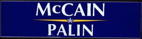 #PL149 - McCain Palin Bumper Sticker