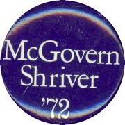 #PL172 - McGovern Shriver '72 Pinback