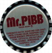#BC030 - Mr. Pibb Plastic Soda Cap with Maroon Letters - As low as 5¢ each