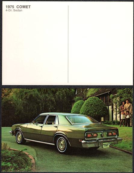 #CA516 - 1975 Ford/Mercury Comet Advertising Postcard