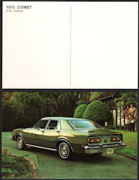 #CA516 - 1975 Ford/Mercury Comet Advertising Postcard