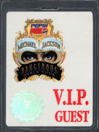 ##MUSICBP0572 - 1992 Michael Jackson Laminated OTTO VIP Hologram Backstage Pass from the Dangerous Tour