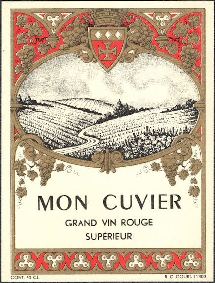 #ZLW178 - Group of 4 Mon Cuvier French Wine Labels