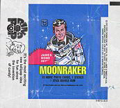 #ZZA073 - 1979 James Bond 007 Moonraker Waxed Trading Card Wrapper