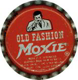 #BC124 - Group of 10 Moxie Bottle Caps Picturing the Moxie Man