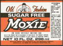 #ZLS103 - Old Fashion Moxie Sugar Free Soda Bottle Label