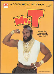 #CH496 - Large Mr. T Color and Activity Book
